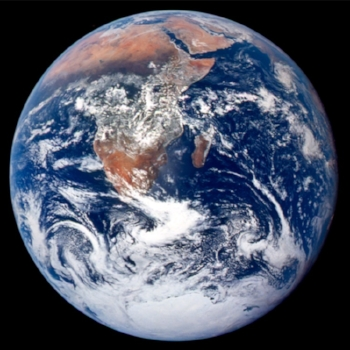 """The Blue Marble"" from Apollo 17.  Photographed by nasa in 1972, this first image of earth from space, and an iconic image of the environmental movement."