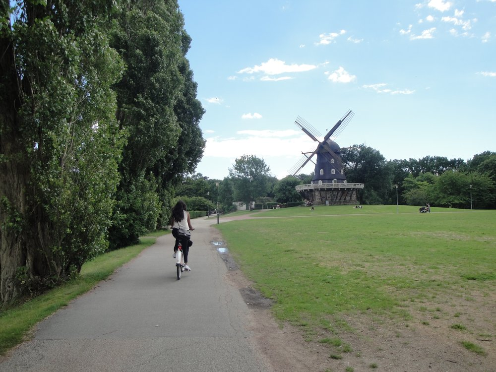 A bike ride in Sweden with views of windmills? Sign me up!