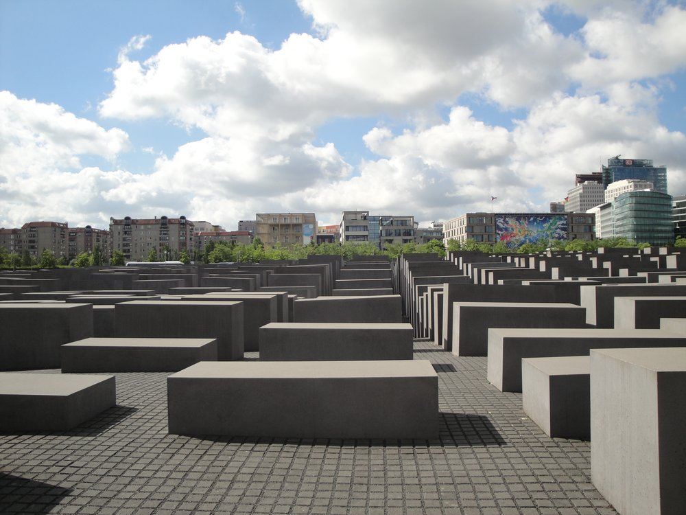 Holocaust Memorial that is one block by one block.