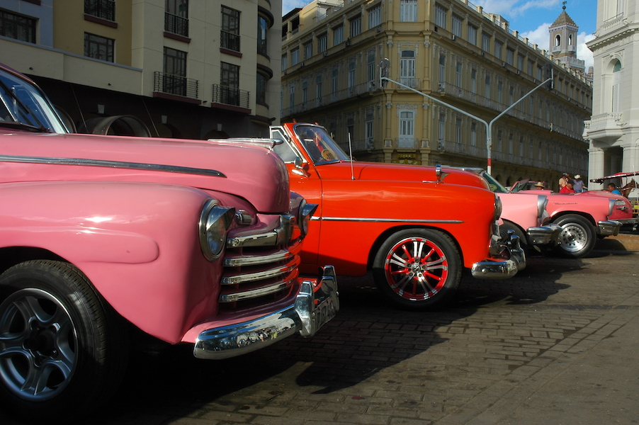The famous Cuban taxis