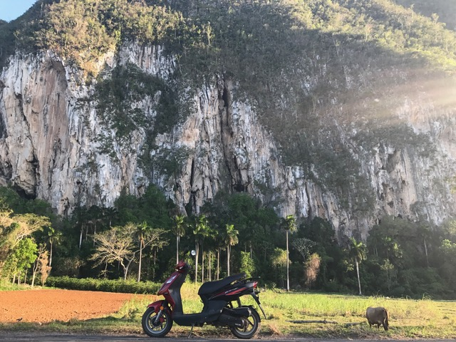 Scootering around rural Vinales was awesome!
