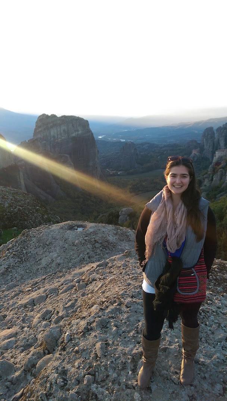Sunset on the rocks of Meteora