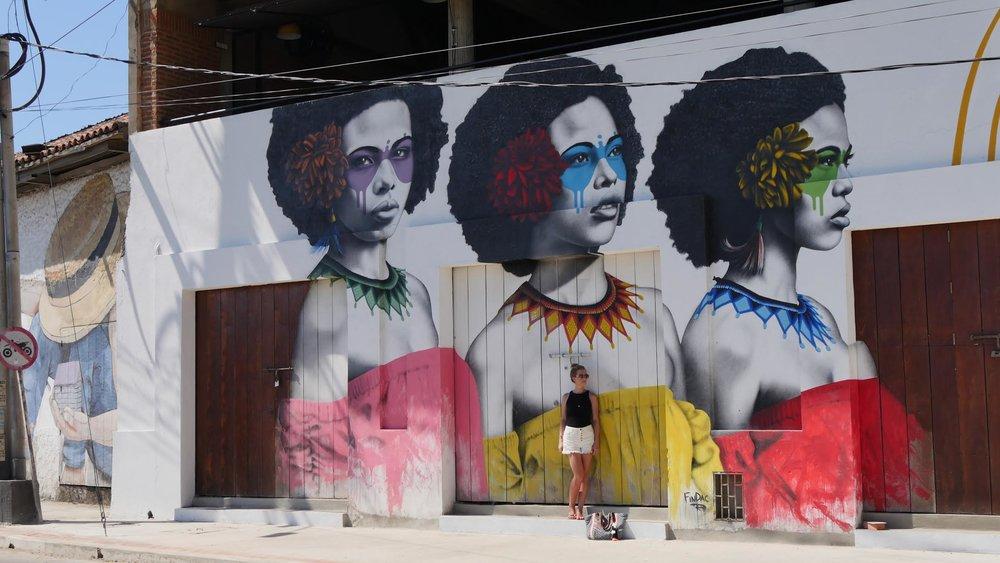 Street art in Cartagena