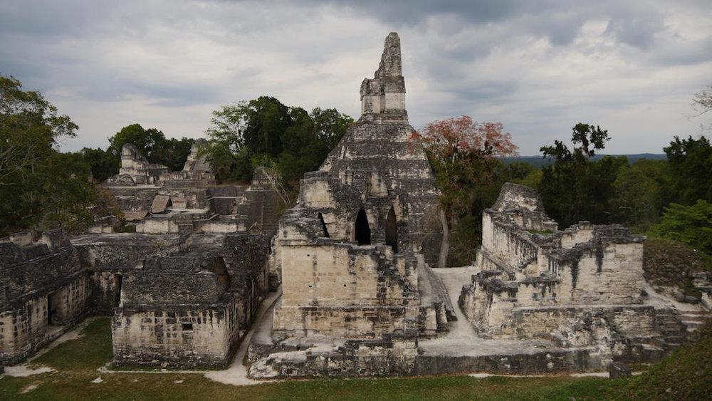 Ancient Mayan Ruins in Tikal, Guatemala