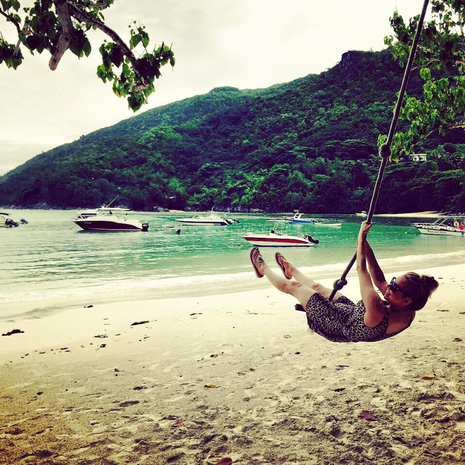 Swinging into my summer of travel in the Seychelles. This photo was taken after a day of paddleboarding and cocktails with my best friends in the whole world.