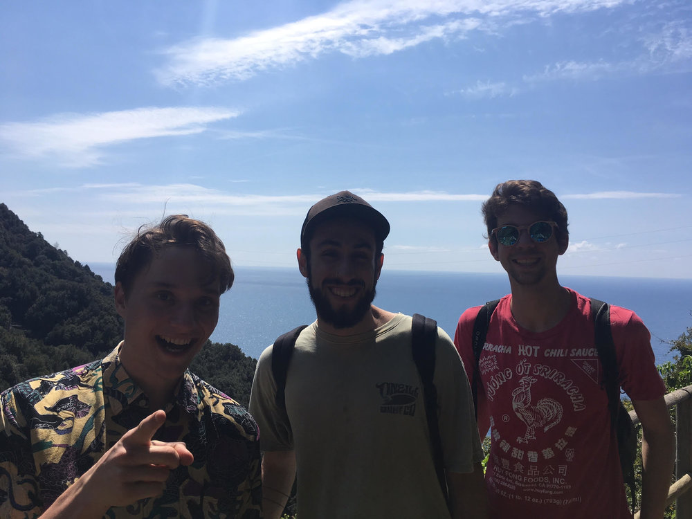 This is Ben, Jayden, and Jules, three of the other volunteers at the Workaway. We decided to sneak away for the day and headed down to hike in the Cinque Terre!