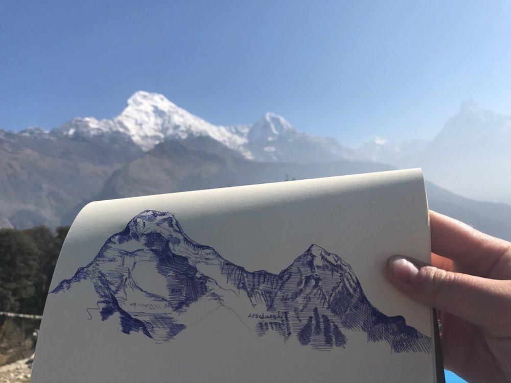 I'm 8091ft high in the sky in Annapurna.