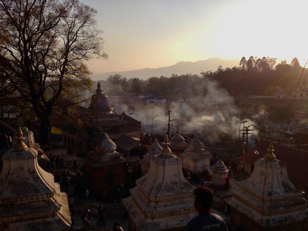 Pashupatinath temple during the Shivaratri Festival.