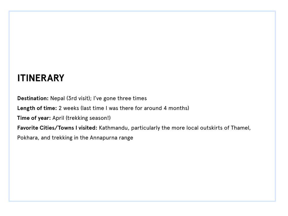 nepal itinerary part 1