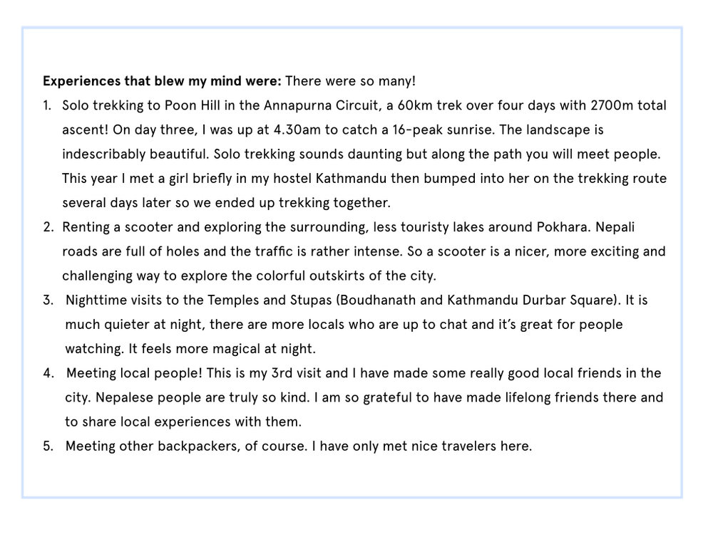 nepal itinerary part 2