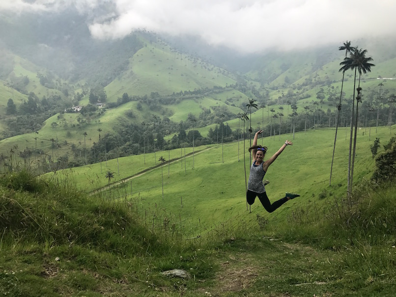 jumping in cocora valley