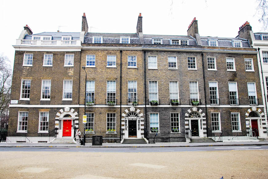 This photo was taken on Gower Street, which was where my flat was located.  I loved the buildings all over town, and the doors on this row of houses were stunning.  I was around the corner, essentially, from the British Museum, which exceeded all expectations I had for it!