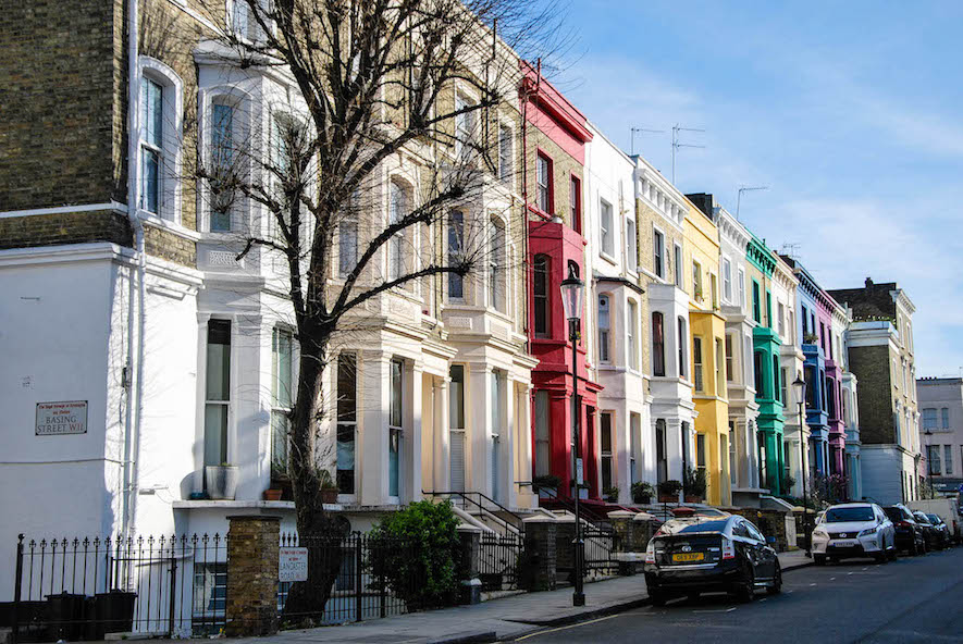 I took this after spending my last morning in the famed Portobello Market (near Notting Hill).  I loved the rowhouses in this area, they reminded me so much of Capitol Hill in Washington, DC.  I am a very early riser, and I loved walking through the city before most of it was awake.