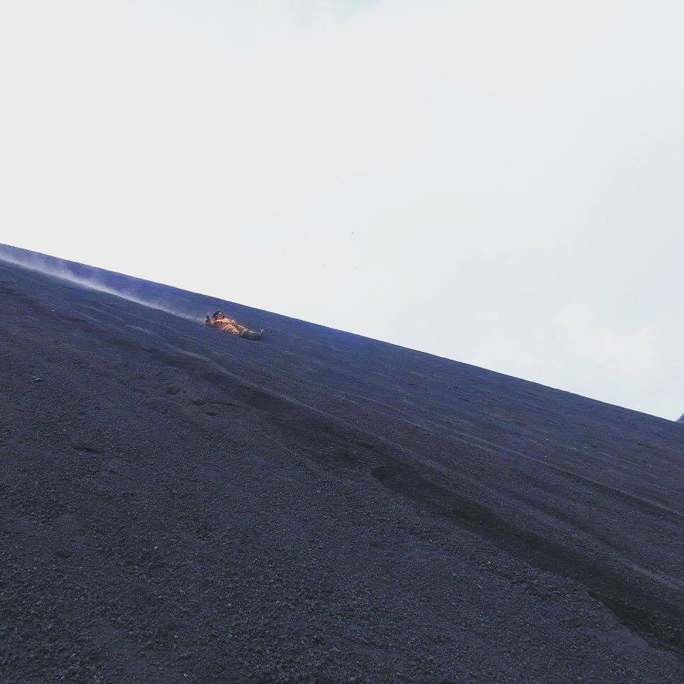 Volcano boarding!!
