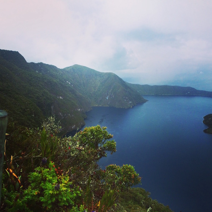 Such an incredible hike around Lake Cuicocha. We reached a solid 10,000ft in the pouring rain but it was well worth every moment. Definitely a highlight of the trip.