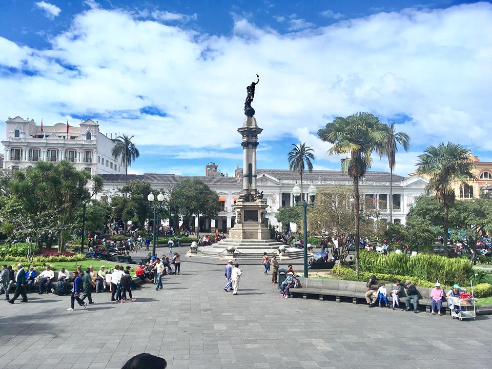 Plaza de la Independencia in all its glory. The city of Quito was named the first ever UNESCO world heritage site.