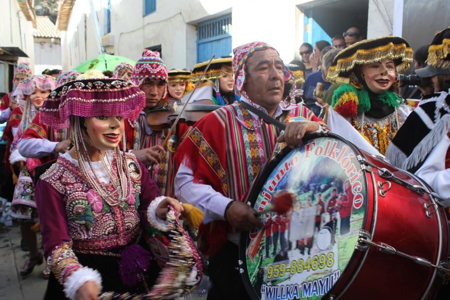 La Fiesta de Virgen de Carmen in Puacartambo.