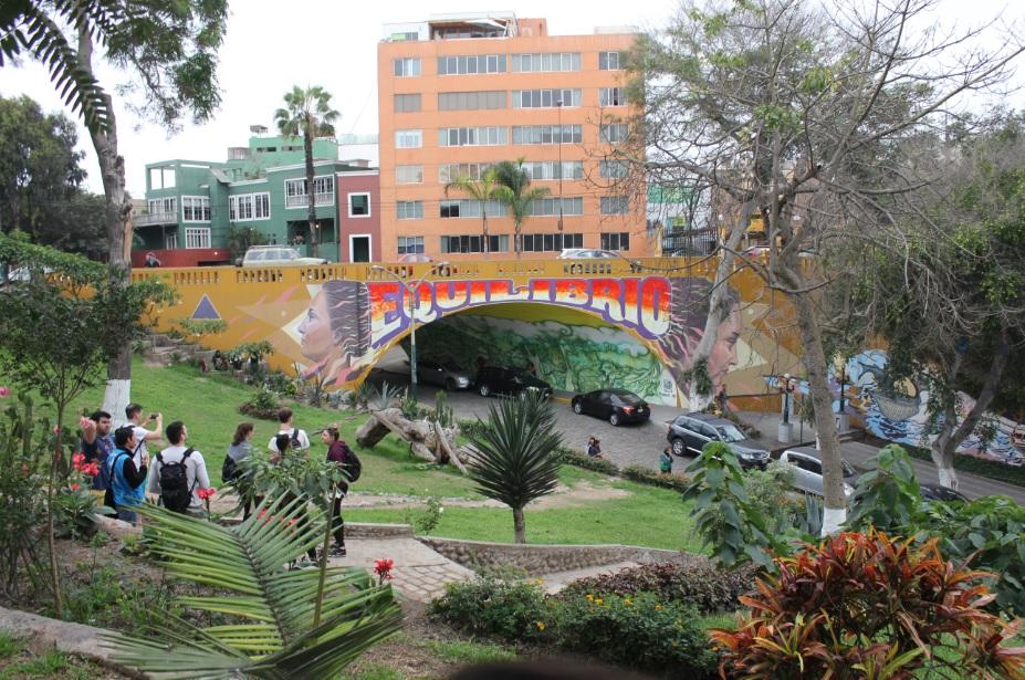 Street Art in Barranco in Lima.