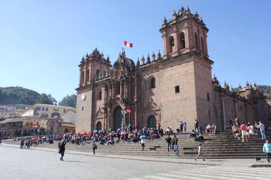 My daily walk through Cusco's main square, Plaza de Armas.