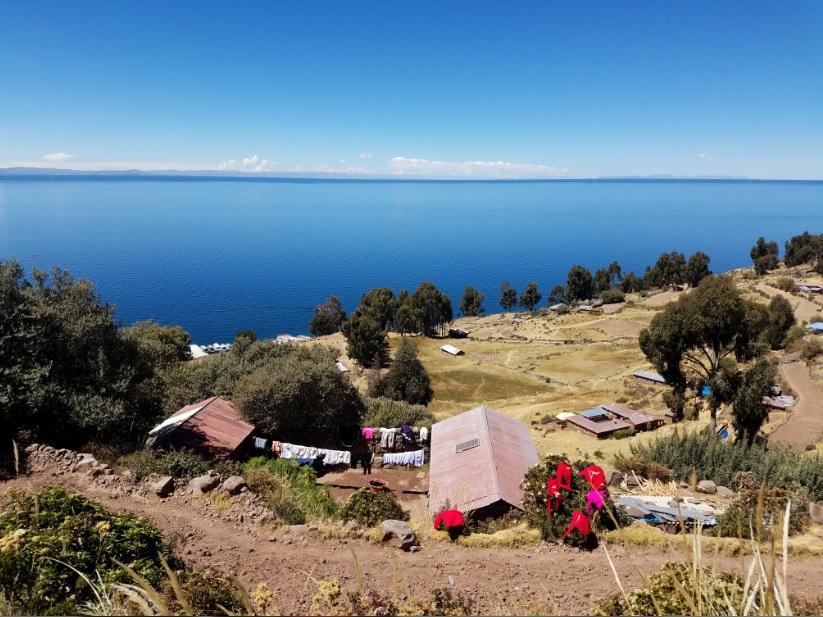 The beautiful Island of Taquile on Lake Titicaca.