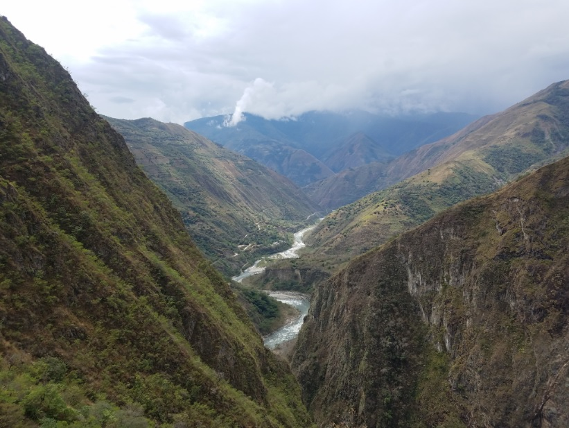 Viewpoint on the Inca Trail en route to Machu Picchu.