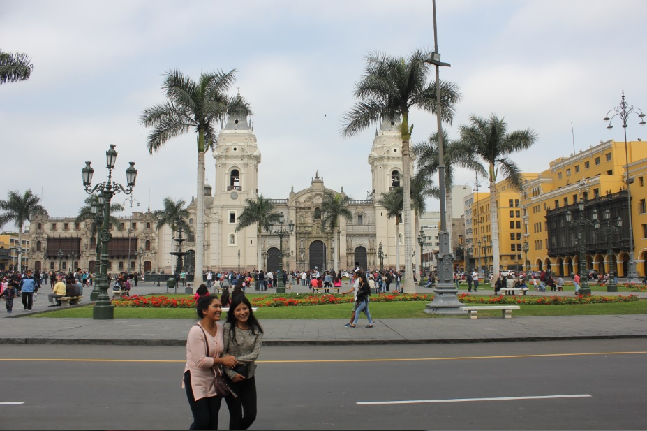 Lima's main square, Plaza Mayor.