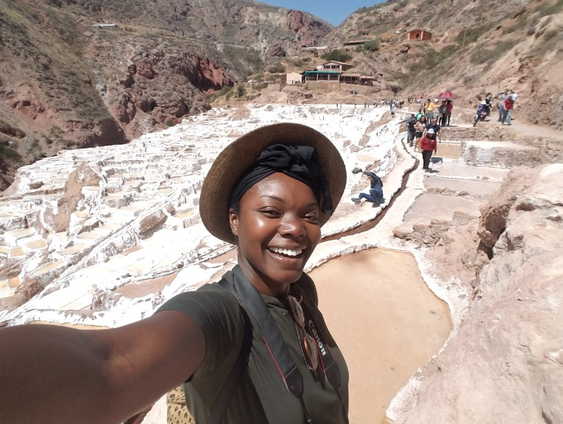 The only place one can be salty – the Salt Mines on the Sacred Valley Tour.