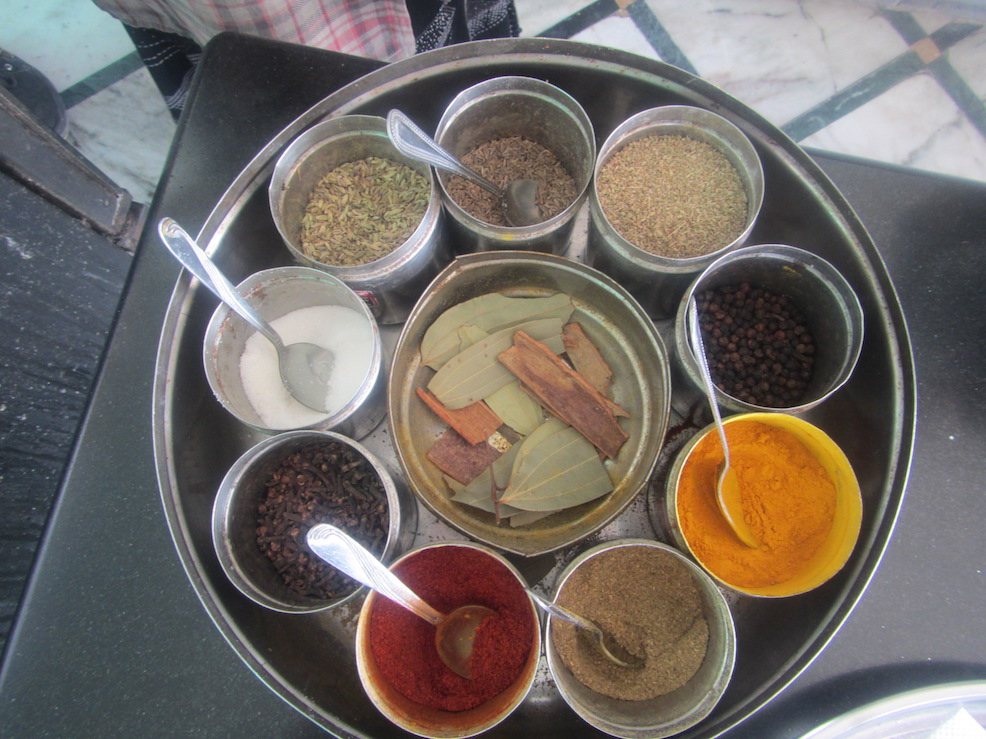 Just a few of the many Indian spices.