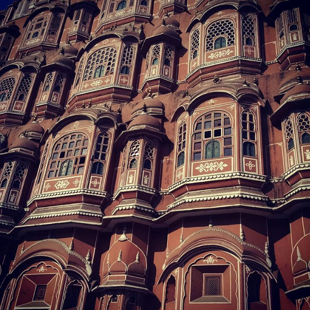 The Hawa Mahal in Jaipur was built so women of the royal family could see festivals on the street without being seen. Incredible architecture, right?