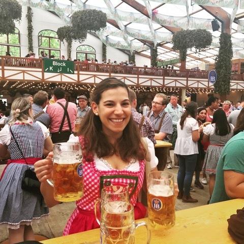 Oktoberfest was on my bucketlist so I had to go to Munich and wear a Dirndl.
