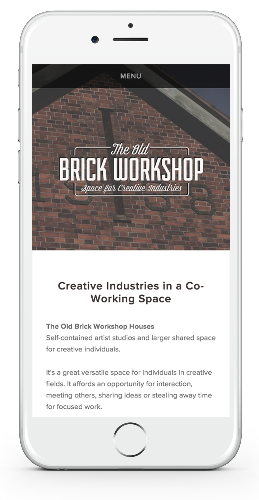 The Old Brick Workshop Website Design