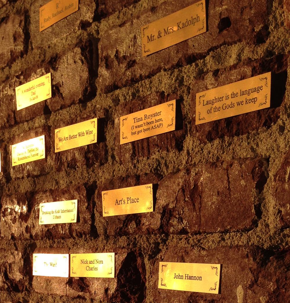 BRIX members wall of plaques.