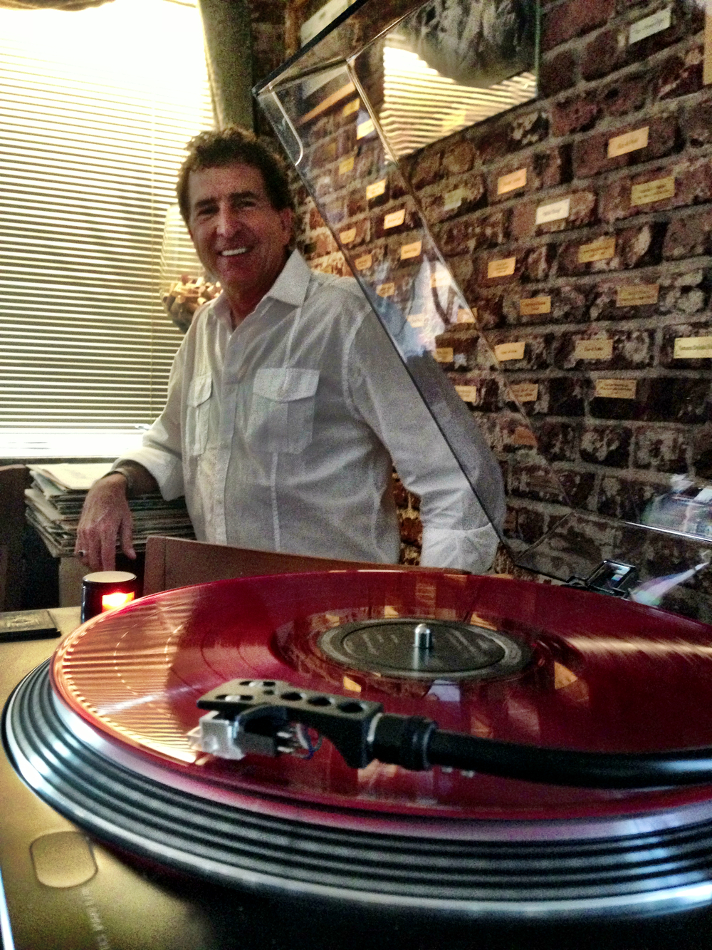 DJ Stevie Steve spinning vintage vinyl.