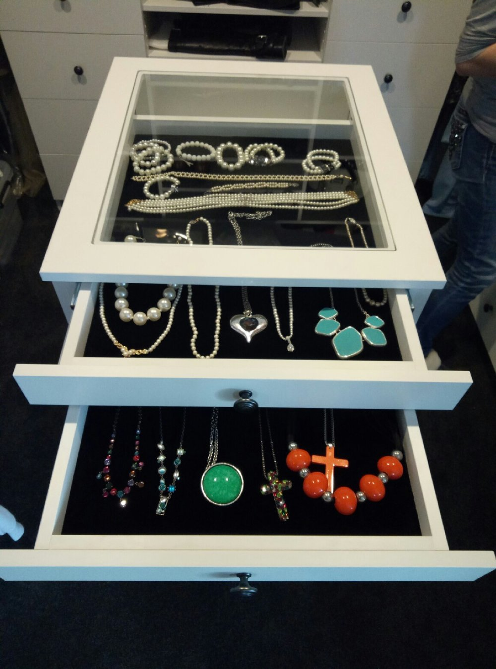 Jewellery cabinet manufacture