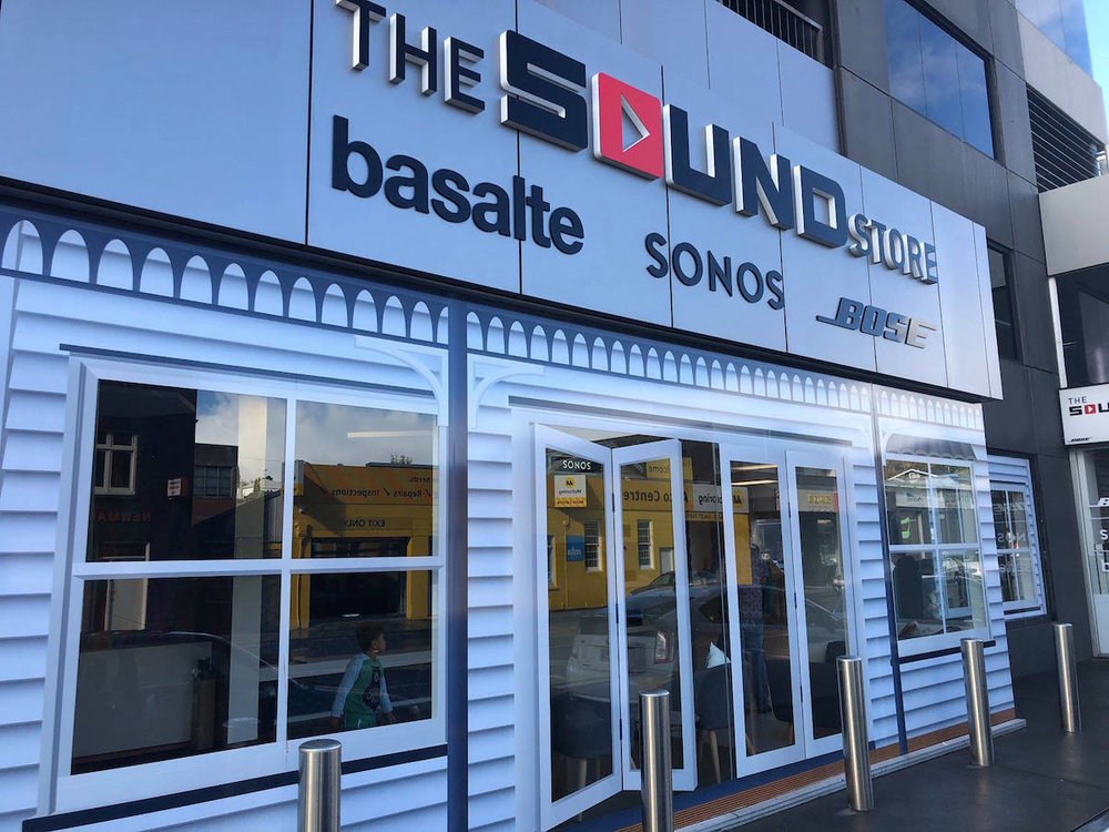 The iconic Sound Store in Newmarket, recently refurbished. photo credit: Speedy Signs