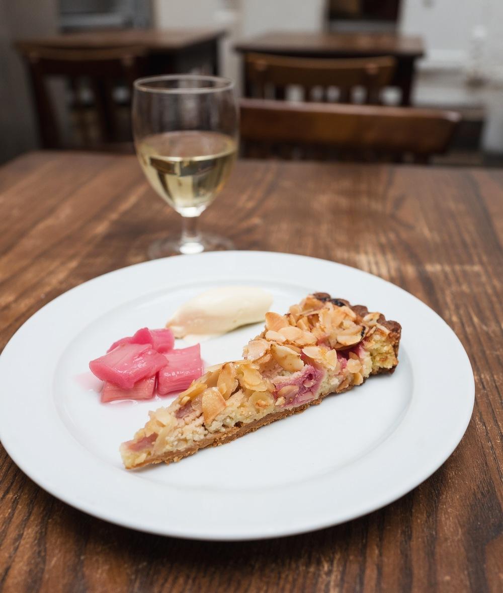 Rhubarb Almond tart
