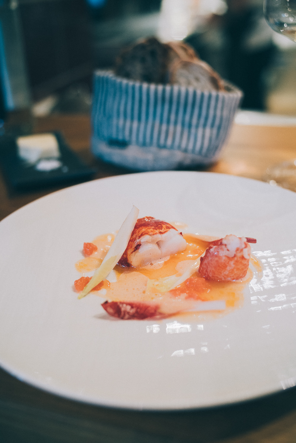 Lobster, Coral sauce