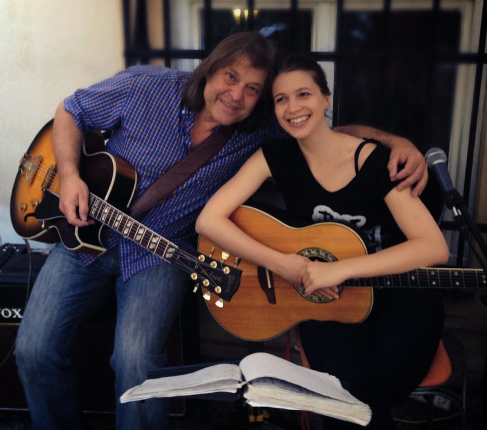 ...with my most beloved guitarist, my dad