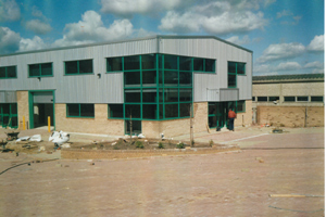Construction at Linkam's first building, Unit 8 Epsom Downs Metro Centre