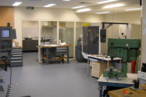 The R&D workshop at Linkam Holland with full CNC, CAD and Wire Erosion facilities