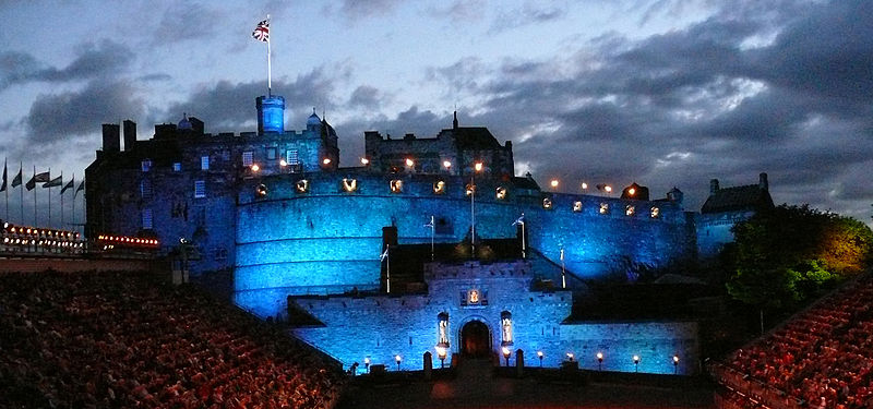 The dramatic backdrop of Edinburgh Castle: you can almost hear the bagpipes playing
