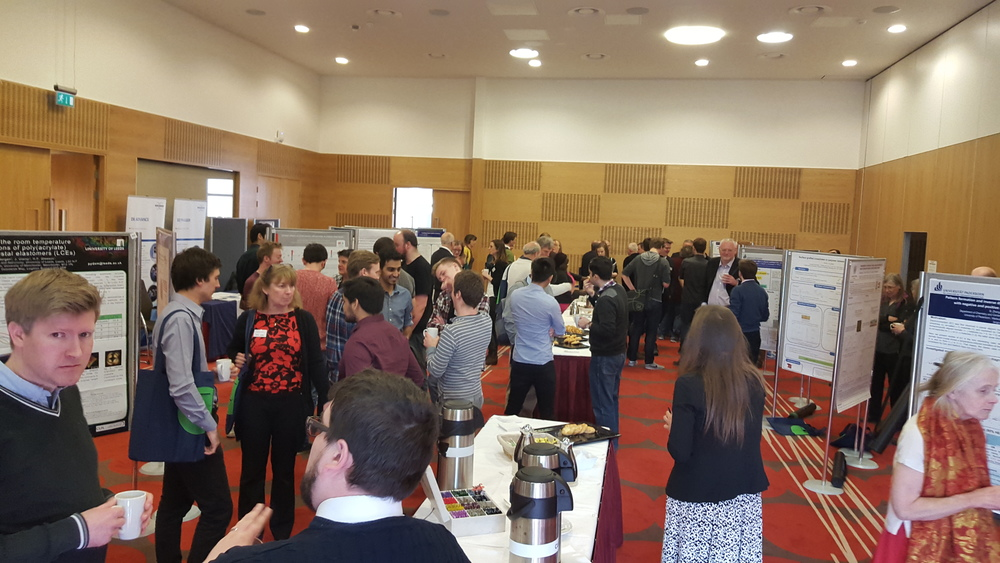 A busy poster session where some of the scientists had a chance to have a chat about the things they're working on
