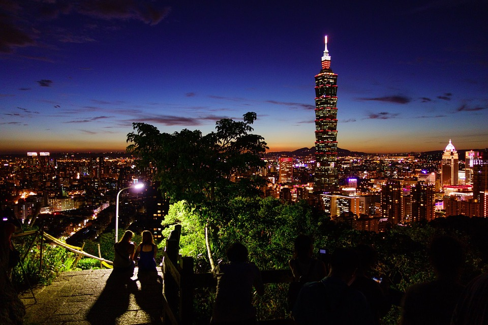Taipei 101 dominates the skyline