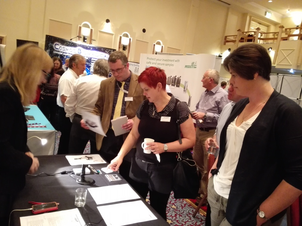 Talking to new customers at the Association of Biomedical Andrologists' recent meeting in Cardiff.