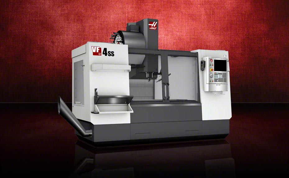 Production's newest gizmo, the HAAS Automation VF-4SS (image courtesy of Haas Automation).