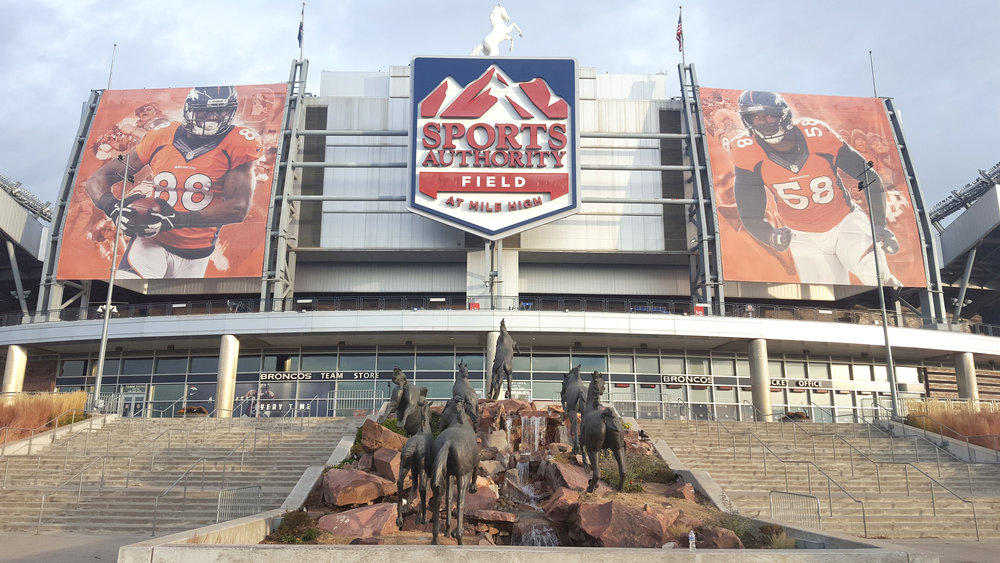 The Sports Authority Field at Mile High in Denver, home of the current NFL champions.
