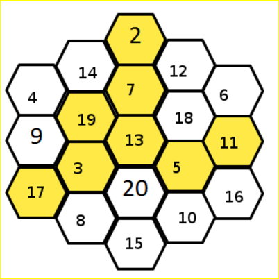 Complete Hexagon Number Puzzle And Answer.png