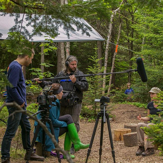 Shooting a video for RNB NB PLAYS! Outside campaign at the Cherry Brook Zoo with the Tir na nog Forest School. #rnb