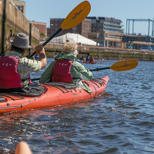 Kayaking in the Saint John harbour with WWF Canada as part of the St. John River Summit. #wwf #