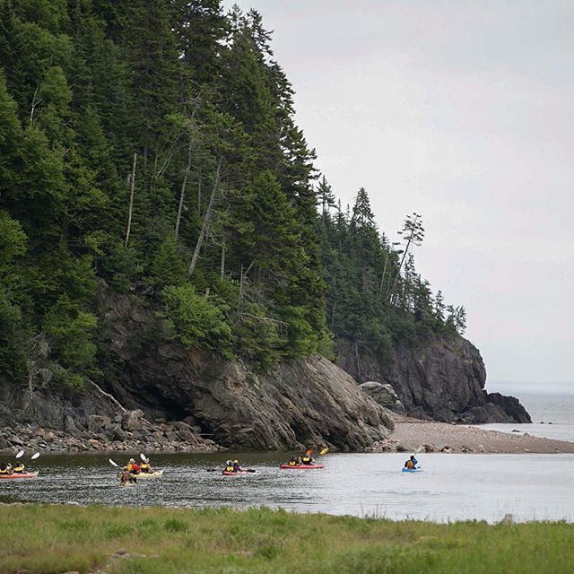 Red Rock Adventure's taking a group of First Nation students out into the bay of Fundy. #fundyfootpath